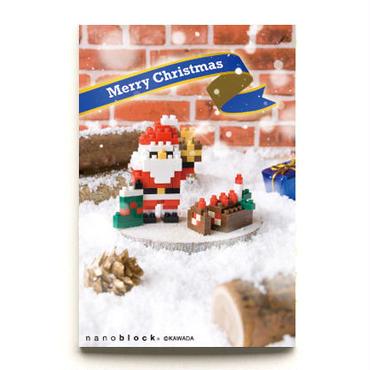 【NP069】nanoblock®クリスマスカード 〜サンタ&ブッシュドノエル〜