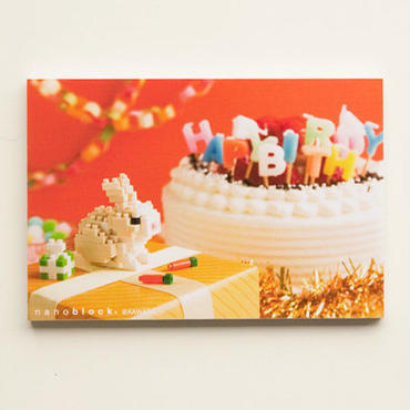 残りわずか【NP037】nanoblock®ポストカード 〜ウサギ〜