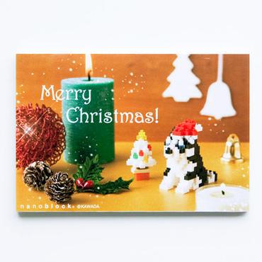 【NP047】nanoblock®クリスマスカード 〜ハスキー犬〜