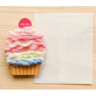 【ZA101】くるくるカップケーキカード