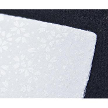 【S-018】手漉き和紙カード 〜桜吹雪〜