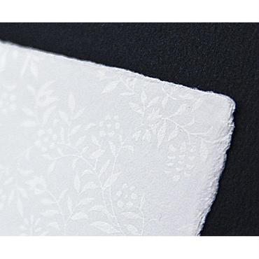 【S-019】手漉き和紙カード 〜花唐草〜