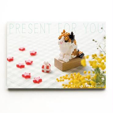 SOLD OUT 【NP054】nanoblock®ポストカード〜三毛猫〜