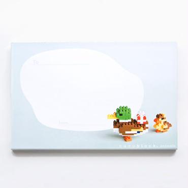【NP002】nanoblock®ポストカード 〜カモ親子〜