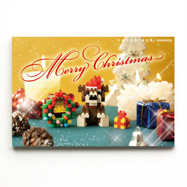 【NP072】nanoblock®クリスマスカード 〜クリスマスベア&リース〜