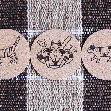 猫コースター10枚セット(アソート)