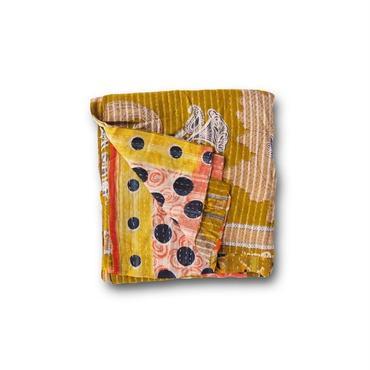 en fil d'Indienne マルチキルトカバー Antique Kantha A 125x215