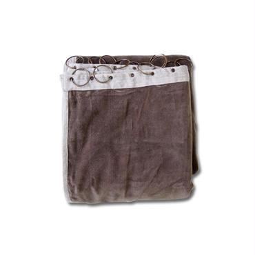 en fil d'Indienne カーテン Velour brown130x280