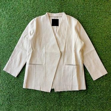 DAZZLE・ノーカラーcut off jacket(6P36000J)