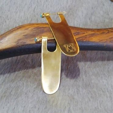 Manic Monday・Brass Plate Earring(6W69002-3-E)