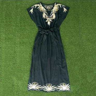 DAZZLE・Embroidery Vintage Style Long Dress(7S33008E)
