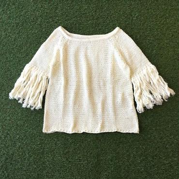 Manic Monday・Fringe sleeve knit top(6P62001E)