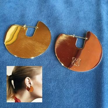 Manic Monday・Brass Circle Plate Earring(6P69002E)