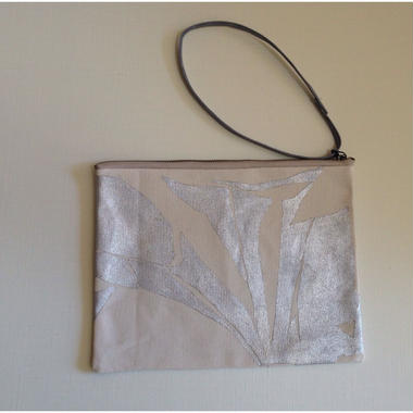 Clutch bag silver on white 5