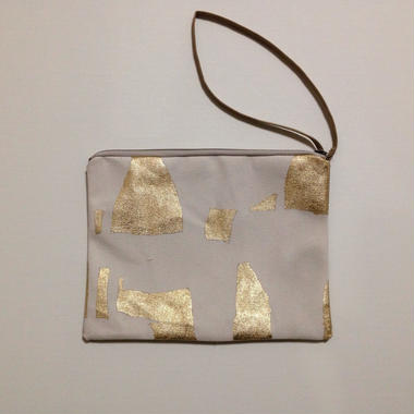 Clutch bag gold on white