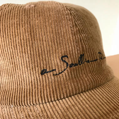 "【Tan】""New Logo"" corduroy cap"
