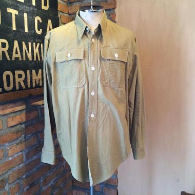 SOLD 1910年代 デタッチャブルカラーワークシャツ