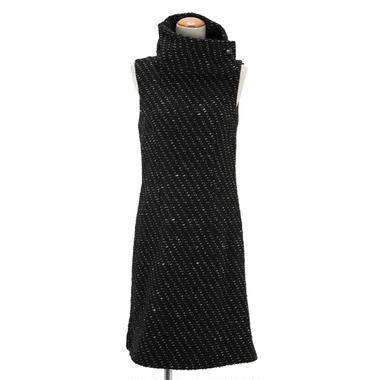 ジャガードノースリーブドレス