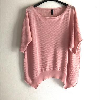 透かし編みセーター