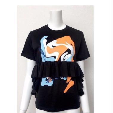 ラッフルプリント T-shirts