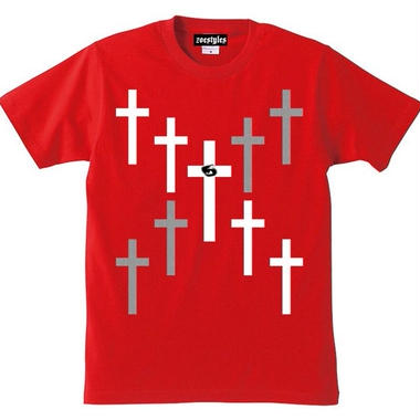 宙也 55 T-Shirt Designed by zoestyles (Red)