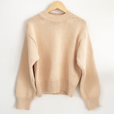 compact sweater         beige