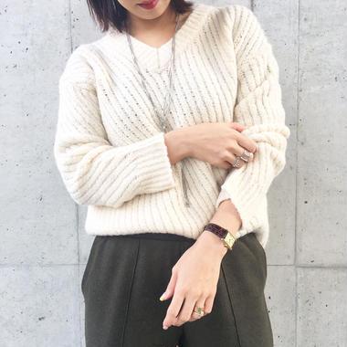 bias  sweater  IVORY
