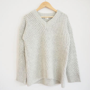 bias sweater  L.GRAY
