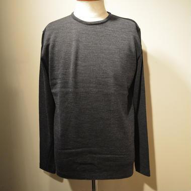 boncoura 2018aw クルーネックセーター (チャコールグレー)