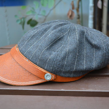 boncoura ボンクラ帽 デッドストックツイード チャコールグレー