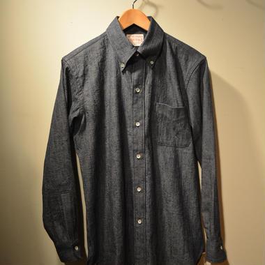 "boncoura ""credo limited"" deadstock生地 デニムシャンブレーBDシャツ"