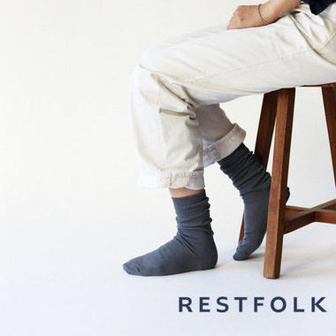 RESTFOLK 日本製 ダブルシルクソックス  ブレイジング 冷えとり res004