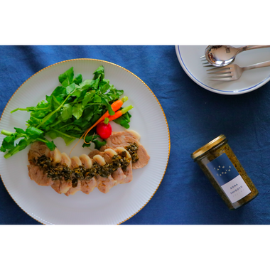 AONA SHIGOTO / 青菜の醤油とごま油の炒め物 6本セット