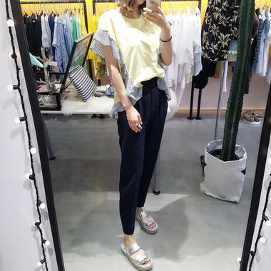 サイドフリルTシャツ/3colors