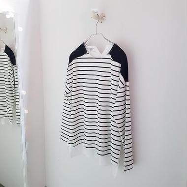 バックシャツボーダーTシャツ