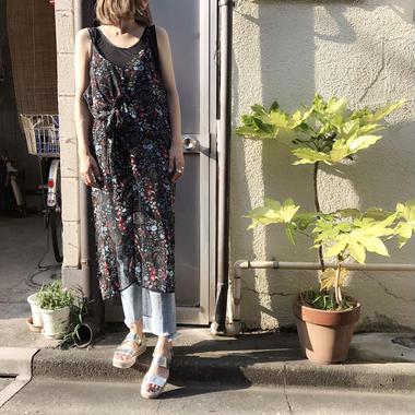 花柄キャミワンピース