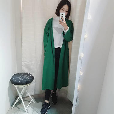 cut sew big long cardigan