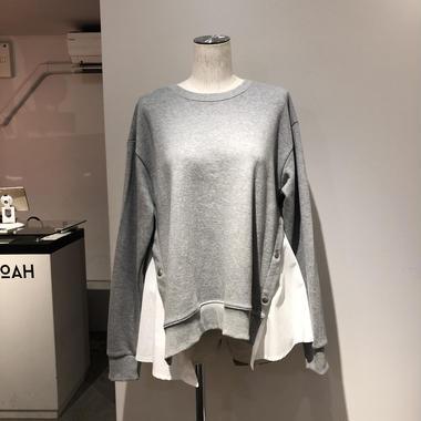 サイドシャツスウェット