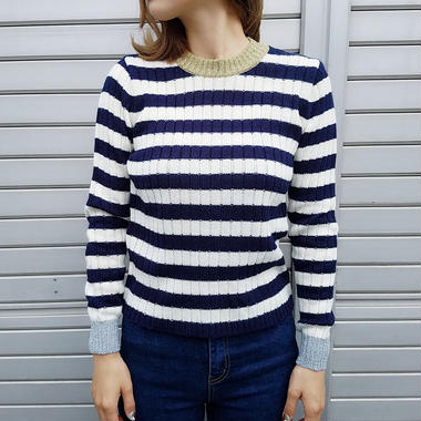 glitter iame border knit