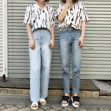 ユニークパターンシャツ/2colors
