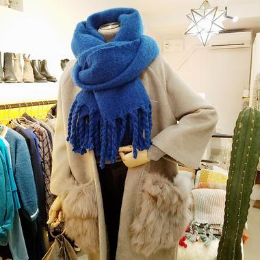 knit fringe muffler