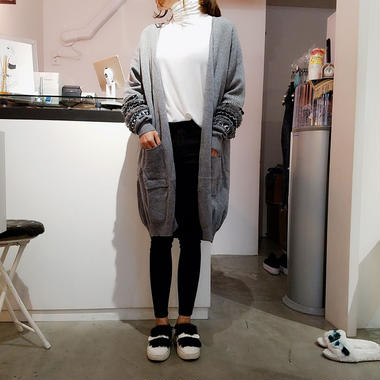 unique sleeve long cardigan