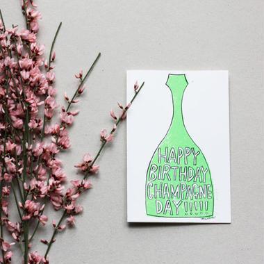 "Postcard ""Happy Birthday Champagne Day!"""