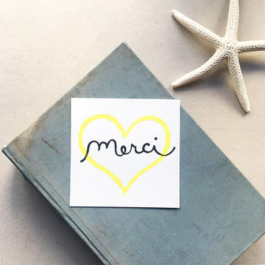 "Postcard ""Merci"" / Heart"