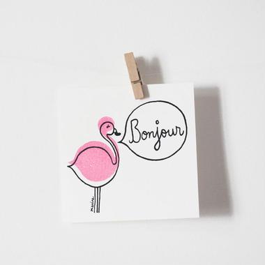 "Postcard ""Bonjour"""