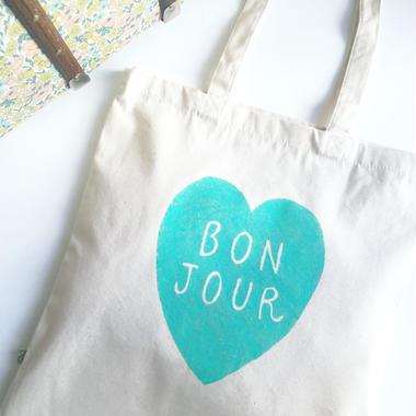 "Tote bag ""Bonjour"""