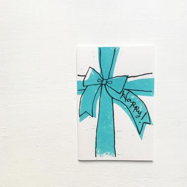 "Postcard ""Happy !""  / Blue"