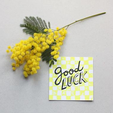 """Postcard """"Good luck"""""""