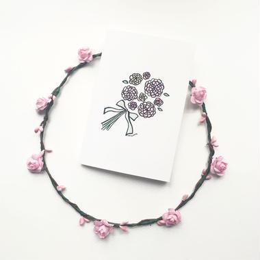 """Postcard """"Bouquet"""""""