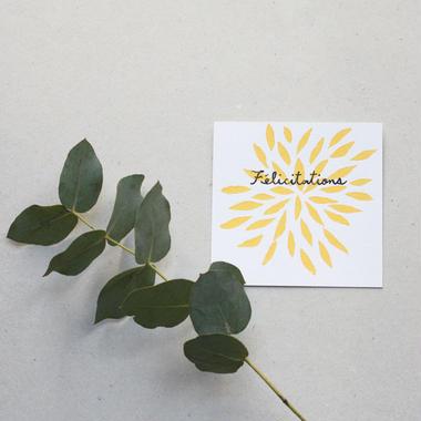 "Postcard ""Félicitations"""